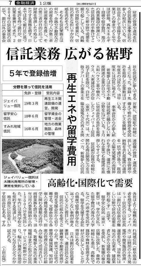 森林信託,日経新聞,飛騨五木